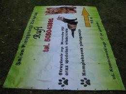reklama salonu pielęgnacji zwierząt