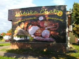 reklama zewnetrzna wiejskiej chaty